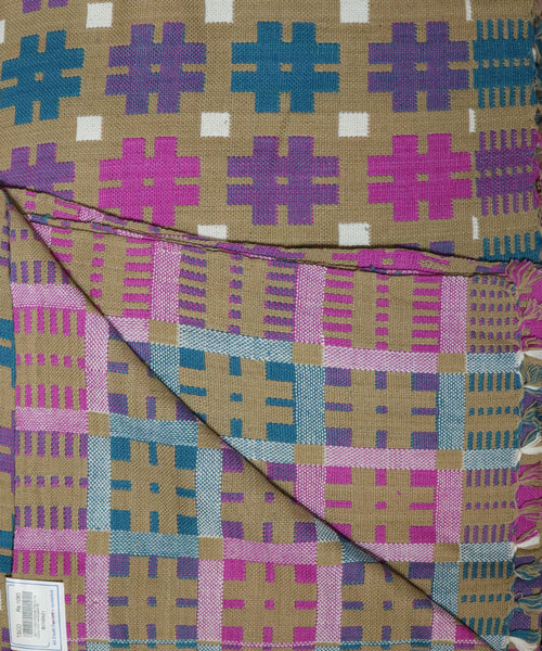 Peanut brown color handwoven karimnagar double cloth Bedsheet
