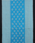 Carolina blue pochampally mercerized Cotton Saree