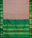 Redwood color Gadwal cotton saree