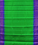 Parrot green handloom Gadwal Silk saree