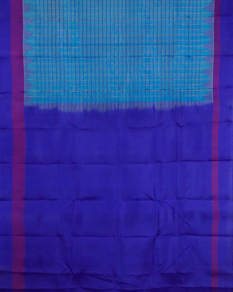 Maya blue color handloom Gadwal Silk saree