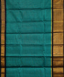 Handwoven Gadwal SICO Saree In dark Green