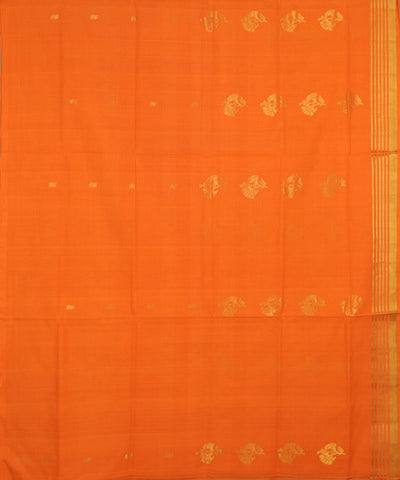 Tiger orange handloom Rajahmundry fancy cotton saree