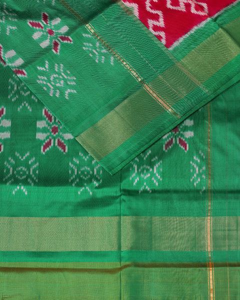 Ruby pink color pochampally silk saree