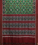 Mehendhi Green spun silk saree