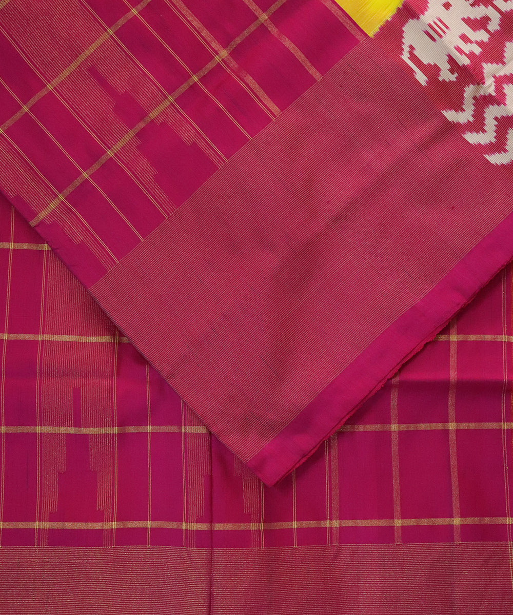 Yellow Pochampally Silk Sarees