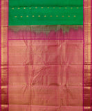 Handwoven Gadwal SICO Saree In Green