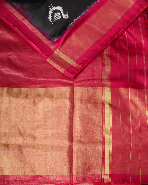 Black color pochampally silk saree