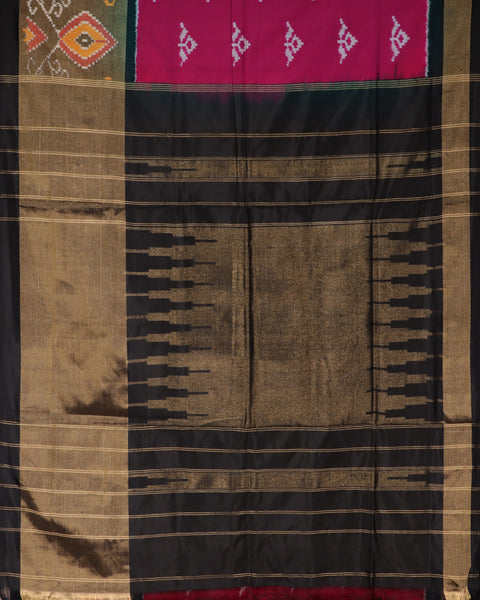 Cheshire pink color pochampally silk saree