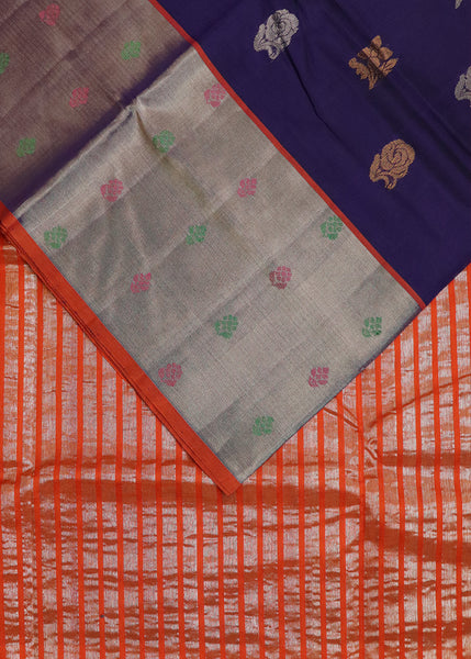 Peach color handloom bandar cotton saree