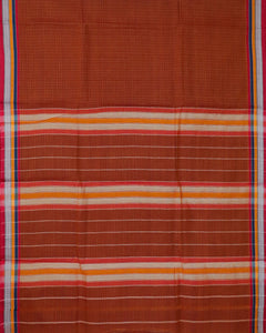 Cinnamon brown shade narayanpet cotton saree