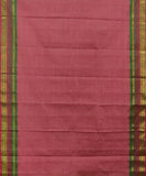 Indian red Gadwal Cotton saree