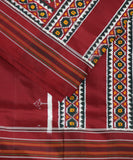 Narkunji red spun silk saree