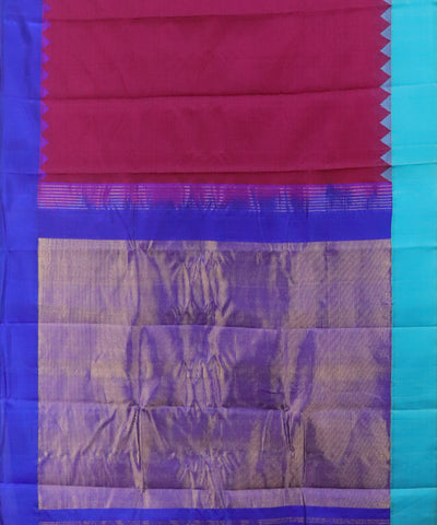 Ruby pink Gadwal Cotton saree