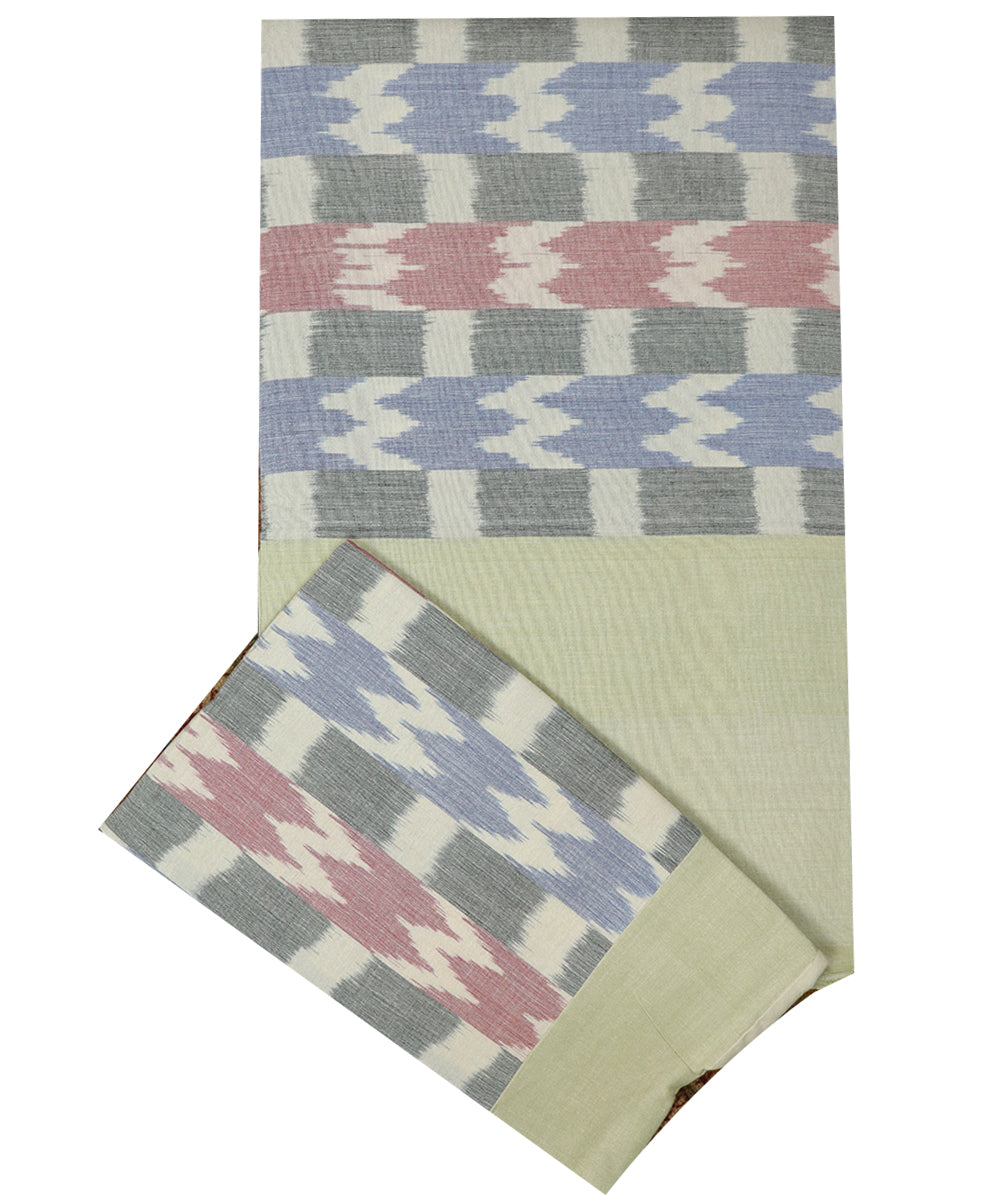 Multi-color handwoven mercerized cotton bedsheet