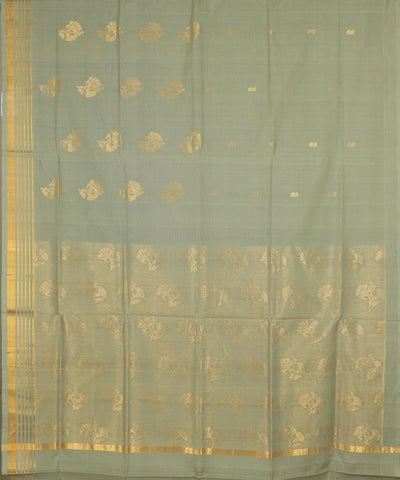 Moss green handloom Rajahmundry fancy cotton saree