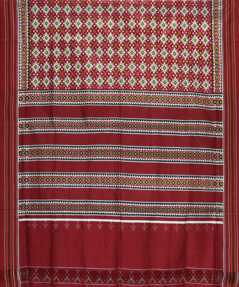 Panpatola red spun silk saree