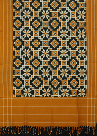Orange Narayanpet Silk saree