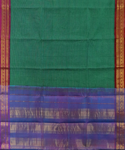 Jade green Gadwal Cotton saree