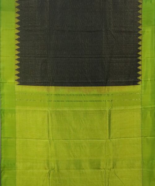 Black shade handloom Gadwal Silk saree