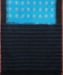 Olympic blue pochampally mercerized Cotton Saree
