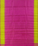 Hot pink shade handloom Gadwal Silk saree