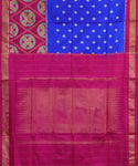 Navy blue Pochampally Silk Sarees