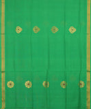 Parrot green handloom Rajahmundry fancy cotton saree