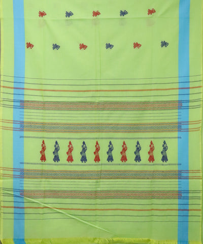 Mint green gollabhama cotton saree