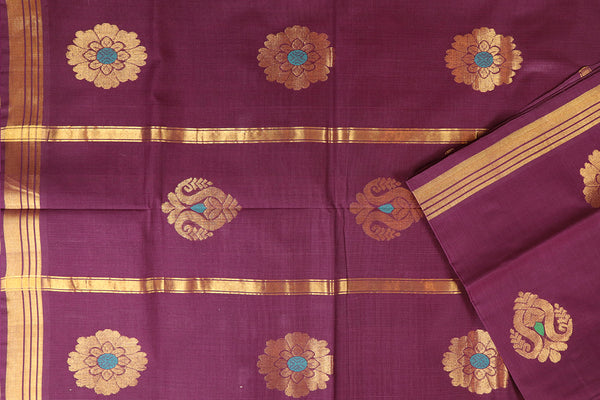 barn red handloom Rajahmundry fancy cotton saree