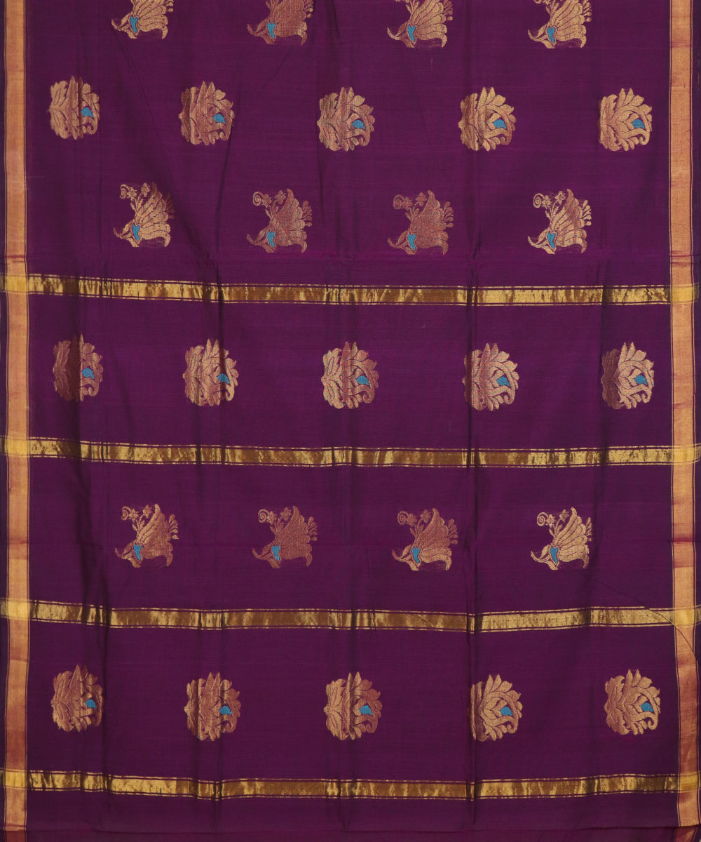 Byzantine violet handloom Rajahmundry fancy cotton saree