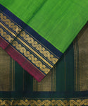 Forest Green handloom Gadwal SICO saree