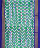 Gray and green color Pochampally Silk Sarees