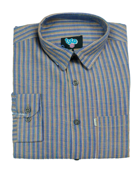 Multi color handwoven khadi shirt