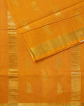 Orange handloom Gadwal Silk saree