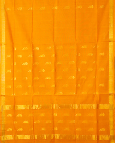 Apricot orange color venkatagiri cotton sarees