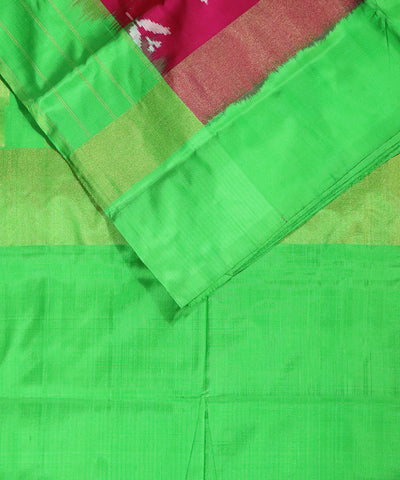 Ruby pink color Pochampally Silk Sarees