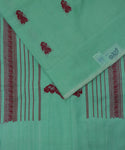 Emerald green gollabhama cotton saree