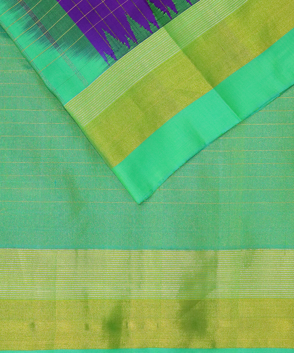 Purple handloom Gadwal Silk saree