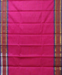 Royal pink handloom Gadwal SICO saree