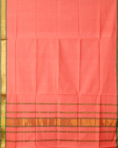 French rose pink color venkatagiri cotton sarees
