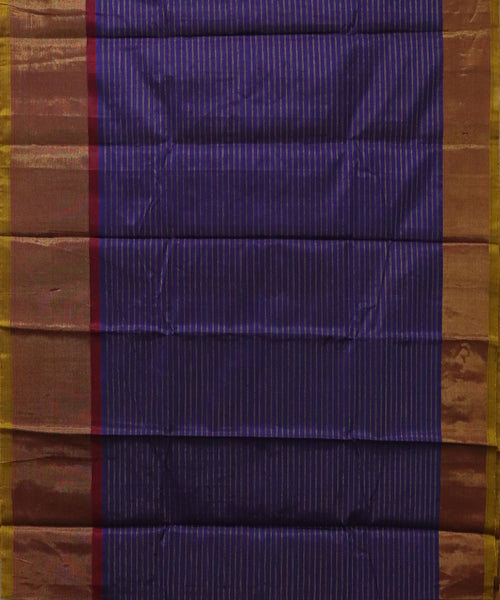 Royal Blue handloom Gadwal SICO saree