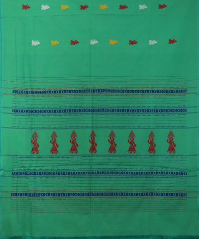 Green base gollabhama cotton saree