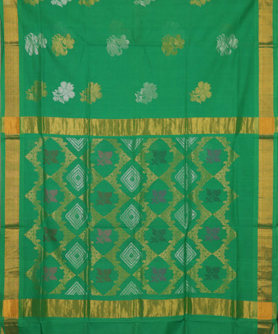 Forest green handloom Rajahmundry fancy cotton saree