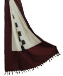 Dark maroon color Cotton dupatta