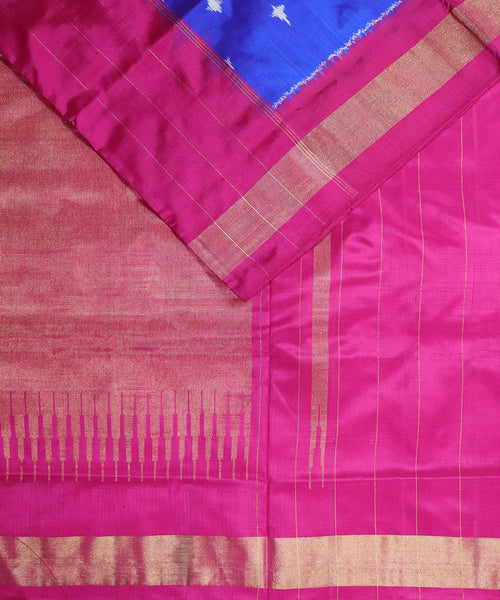 Navy blue color Pochampally Silk Sarees