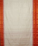 Peach yellow handloom Gadwal Silk saree