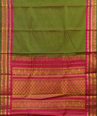 Multi-shade color Handloom Gadwal SICO saree