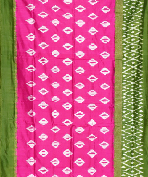 Pink color Pochampally Silk Sarees