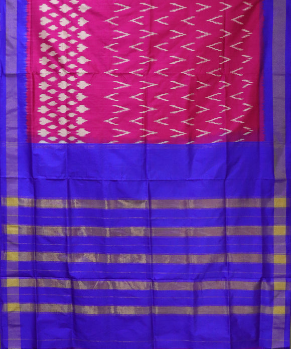 Royal Blue Pochampally Silk Sarees
